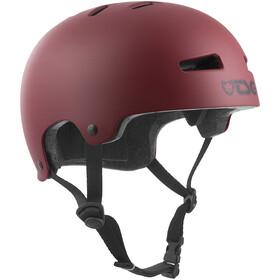 TSG Evolution Solid Color Helmet Youth satin oxblood